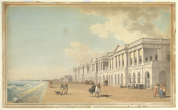 N.E. view of Bentinck's Buildings, the Beach, Madras 2453